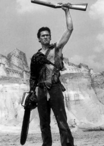 Bruce Campbell black and white poster