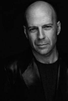 Bruce Willis black and white poster