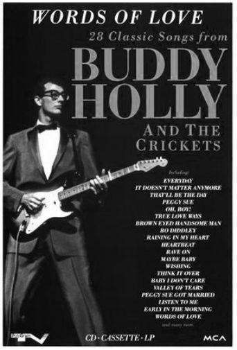 Buddy Holly black and white poster