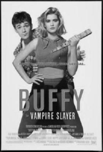 Buffy The Vampire Slayer Movie black and white poster