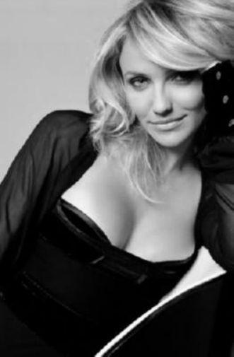 Cameron Diaz black and white poster