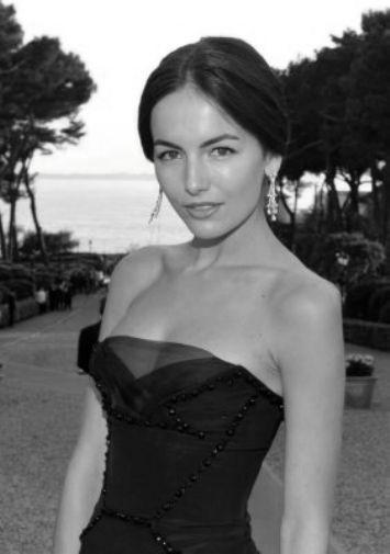 Camilla Belle black and white poster
