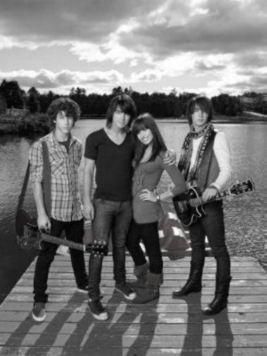 Camp Rock black and white poster