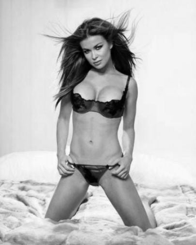 Carmen Electra Poster Black and White Mini Poster 11
