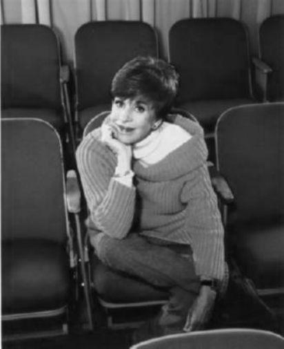Carol Burnett black and white poster