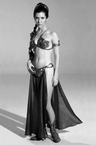 Carrie Fisher Poster Black and White Mini Poster 11