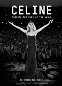 Celine Dion black and white poster