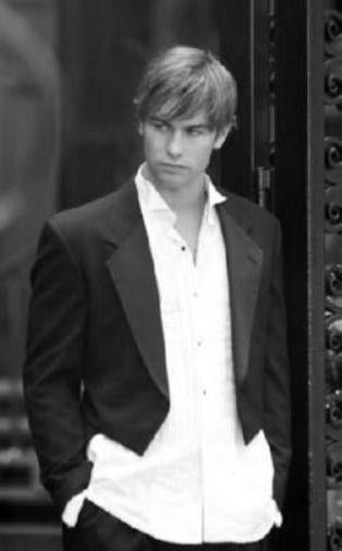 Chace Crawford black and white poster