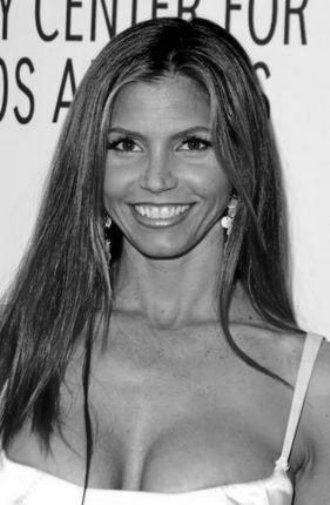 Charisma Carpenter black and white poster