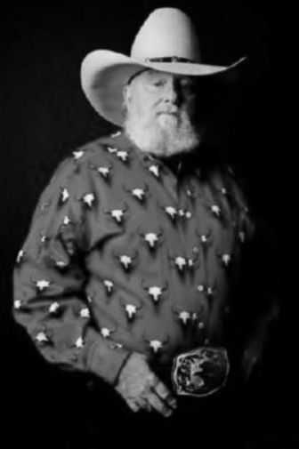 Charlie Daniels black and white poster