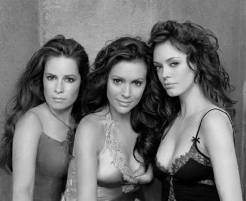 Charmed black and white poster