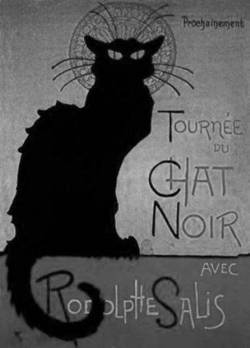 Chat Noir black and white poster