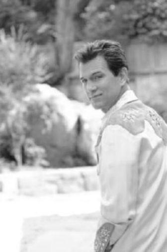Chris Isaak black and white poster