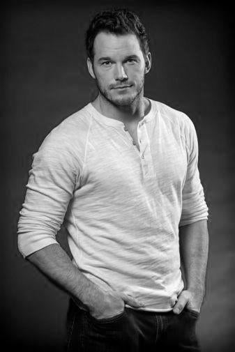 Chris Pratt black and white poster