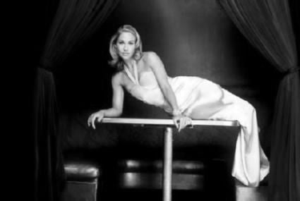 Christina Applegate black and white poster