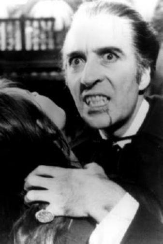 Christopher Lee black and white poster