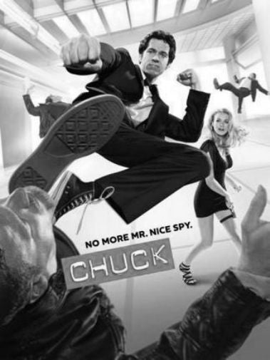 Chuck Poster Black and White Mini Poster 11
