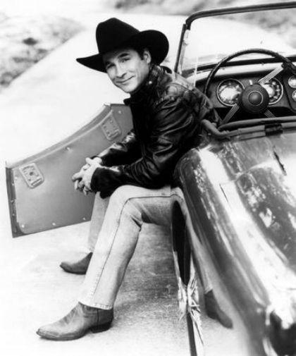 Clint Black black and white poster