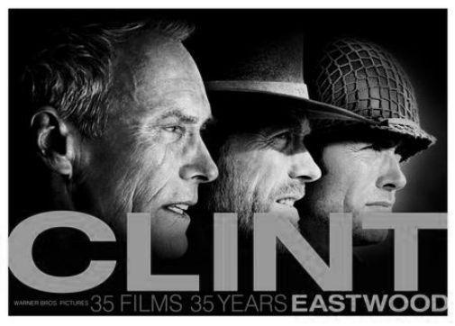 Clint Eastwood black and white poster