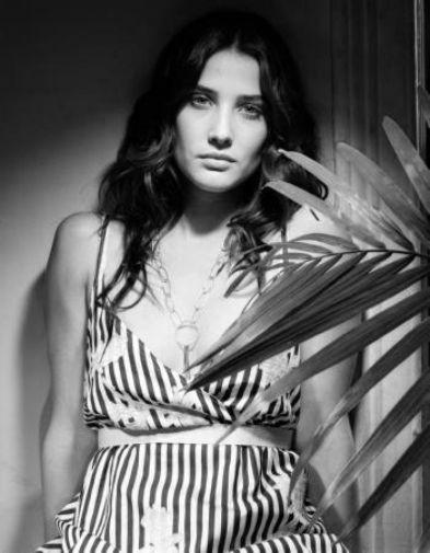 Cobie Smulders black and white poster