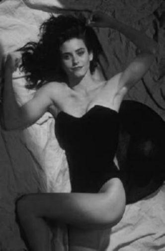 Courtney Cox black and white poster
