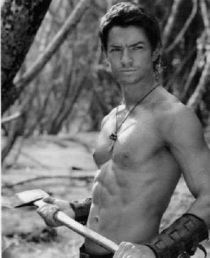 Craig Horner black and white poster