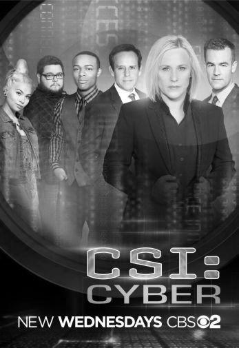 Csi Cyber black and white poster