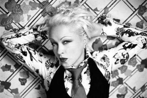 Cyndi Lauper black and white poster
