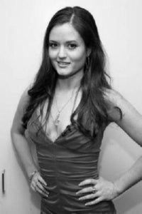Danica Mckellar black and white poster
