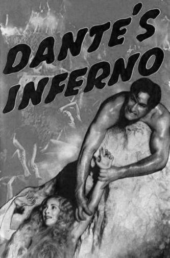 Dantes Inferno black and white poster