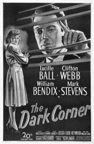 Dark Corner black and white poster