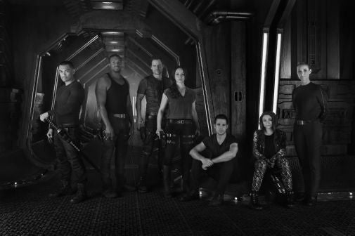 Dark Matter Poster Black and White Mini Poster 11