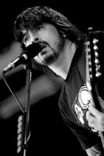 Dave Grohl black and white poster