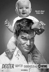 Michael C Hall black and white poster