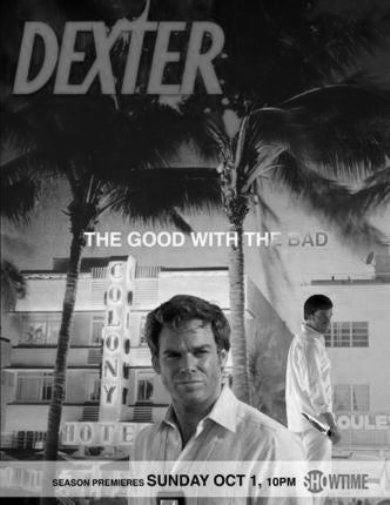 Dexter Poster Black and White Mini Poster 11