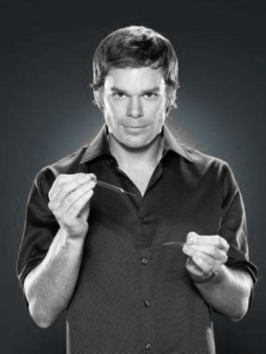 Dexter black and white poster