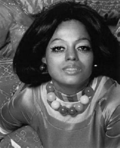 Diana Ross black and white poster