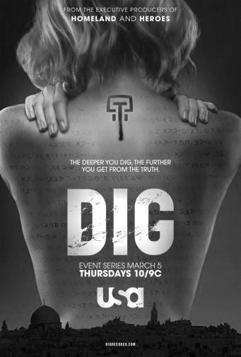 Dig Poster Black and White Mini Poster 11