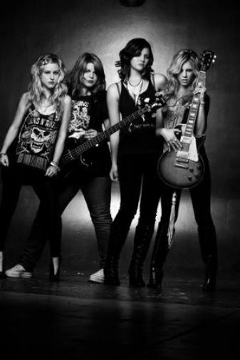 The Donnas black and white poster