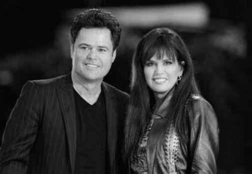 Donny And Marie Osmond black and white poster