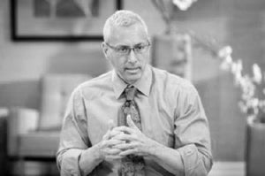 Dr. Drew black and white poster