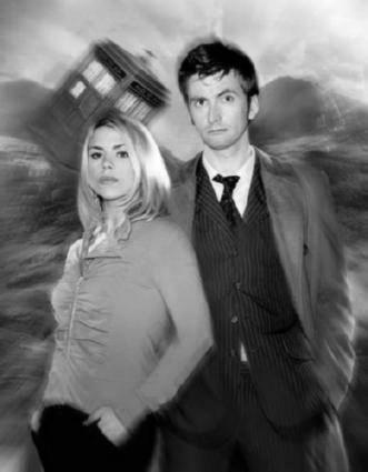 DR. WHO black and white poster
