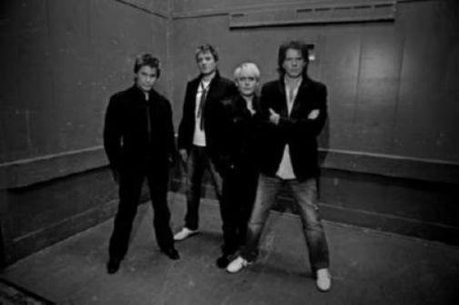 Duran Duran black and white poster