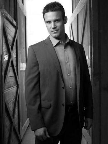 Eddie Mcclintock black and white poster
