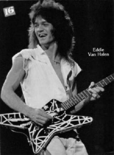 Eddie Van Halen black and white poster
