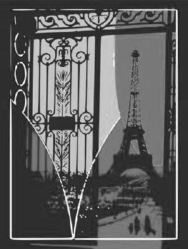 Eiffel Tower Pop Art black and white poster
