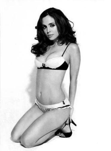 Eliza Dushku black and white poster