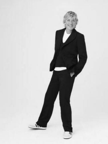 Ellen Degeneres black and white poster