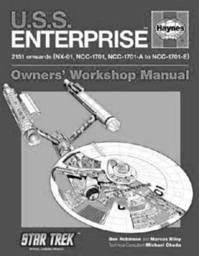 U.S.S. Enterprise Haynes Manual black and white poster