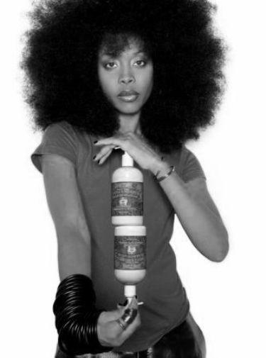 Erykah Badu black and white poster